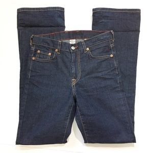 Lucky brand Dungarees size 2/26 plane Jane flare
